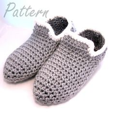 Man Cave Slippers Crochet Pattern