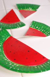 Watermelon Paper Plates from Education