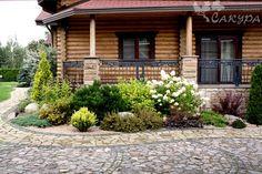 53 Best Farmhouse Front Yard Decor and Design Idea – - Modern Front Yard Decor, Front Yard Design, Front Yard Landscaping, Patio Design, Garden Design, Farmhouse Front, Dream Garden, Amazing Gardens, Landscape Design