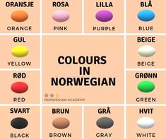 Learn Swedish, Beige Color, Brown And Grey, Pink Purple, Colours, Languages, Green, Learning, Idioms