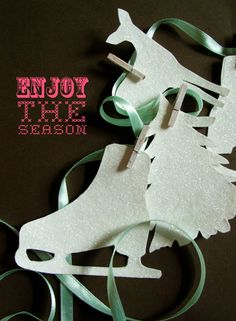 {FREE} Winter silhouettes to cut out and hang across a door frame, mantle or window and enjoy!