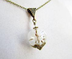 Dandelion Seed Orb Necklace