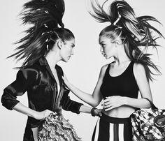 Lily Aldridge & Gigi Hadid by Patrick Demarchelier for Vogue US April 2016.