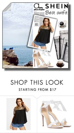 """""""She in shine out"""" by ljetnaoluja ❤ liked on Polyvore featuring Alexandre Birman and 7 For All Mankind"""