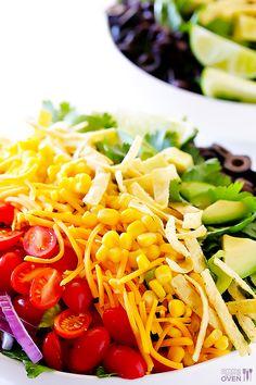 Skinny Taco Salad Recipe - Rainbow Food Recipe Ideas. could make this vegan (: