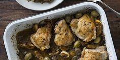 Sticky Chicken with Ouzo, Olives + Charred Lemons Sticky Chicken, Gluten Free Cupcakes, No Sugar Foods, Greek Recipes, Lunches And Dinners, Afternoon Tea, Chicken Recipes, Olives, Dinner Recipes