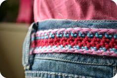Girls Crochet Belt Free Pattern 2