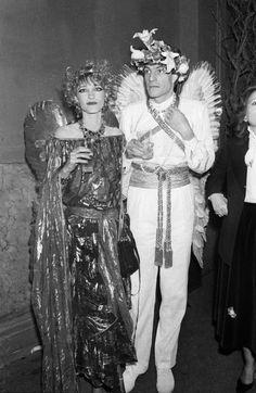 Loulou de la Falaise et Thadee Klossovski au Palace en 1978 http://www.vogue.fr/mode/inspirations/diaporama/icnes-le-style-des-party-girls/23979#loulou-de-la-falaise-et-thadee-klossovski-au-palace-en-1978