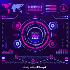 Graphic elements of spaceship Free Vector Technology Wallpaper, Technology Background, Game Ui Design, Web Design, Vector Design, Process Chart, Technology Design, Business Technology, Custom Neon Signs