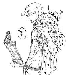 Trafalgar D. Water Law and Donquixote Rocinante (Corazon) (Corasan, Cora-san) One Piece