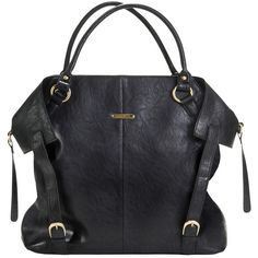 Charlie Diaper Bag Tote - Black by Timi And Leslie | Maternity Clothes ($160) via Polyvore    Available at www.duematernity.com