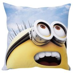 """#FabFurnish #DiwaliDecor One for the love for minions from fabfurnish """"Stybuzz Happy Minions Cushion Cover"""""""