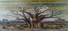 Baobab Tree. 800mm x 1800mm Available. Baobab Tree, Collaboration, Painting, Art, Painting Art, Paintings, Kunst, Paint, Draw