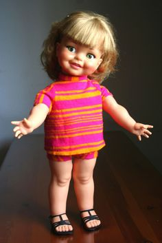 Giggles Doll 1960s  I remember taking mine to school with me when I was in first grade...1966