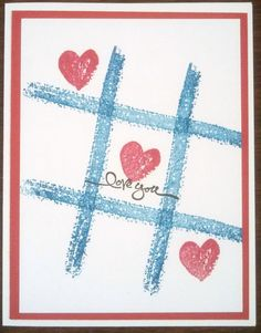 Fun and Simple LOVE card for OWH, using Work of Art stamp set by Stampin Up