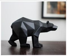 Find More Statues & Sculptures Information about Black Panther Sculpture Geometric Resin Leopard Statue Wildlife Decor Gift Craft Ornament Accessories Furnishing Bear statues,High Quality craft like,China ornamental fruits Suppliers, Cheap ornamental aluminum from Wooden box / crafts Store on Aliexpress.com