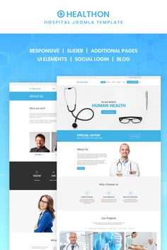 Healthon - Hospital Joomla Template #67150