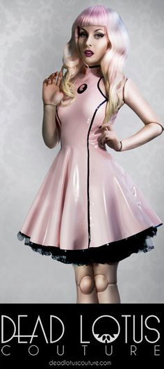 SAKURA lolita / victorian latex dress with cameo, swing 50s skirt