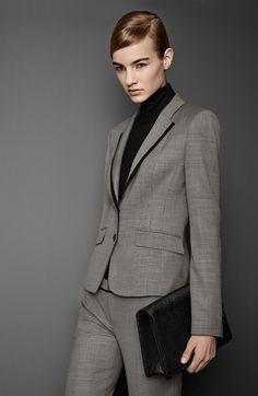 Free shipping and returns on BOSS HUGO BOSS Stretch Wool Jacket, Turtleneck…