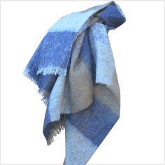 Mohair Wool Plaid Pattern Throw 006 | Mohair Blankets /  Throws