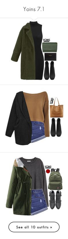 """""""Yoins 7.1"""" by emilypondng ❤ liked on Polyvore featuring yoins, yoinscollection, loveyoins, MICHAEL Michael Kors, Yves Saint Laurent, Boohoo, Sole Society, H&M, Eastpak and Pomax"""