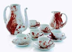 """You may drink blood tea, but please, Don't . . . Really.  Although, a favorite film of mine is a stop-animation called, """"Blood Tea and Red String.""""  Fascinatingly strange."""