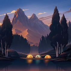 Mountain Lake - by Brian Edward Miller
