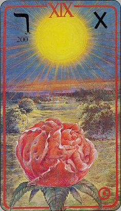 The Sun - Haindl Tarot - If you love Tarot, visit me at www.WhiteRabbitTarot.com