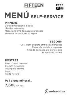 Nuestro menú para hoy 20 de enero