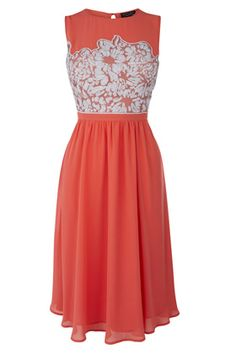 Dress like Rachel Berry: embellished bodice soft prom dress £85 from Warehouse