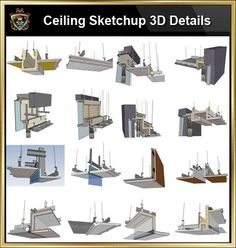 【Best 70 Types Ceiling Sketchup Detail Models】 (★Recommanded★)-This Sketchup models collection can be used in your design max,Revit) Stairs Architecture, Amazing Architecture, Concept Architecture, Architecture Details, Modern Architecture, Renzo Piano, Ceiling Detail, Ceiling Design, Auditorium Design