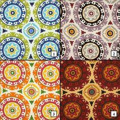 Waverly Solar Flair Pillow Covers, Modern Essentials, blue, green, purple, black, orange, pink, burgundy, brown