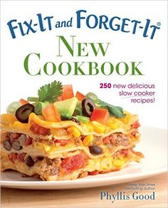 """Read """"Fix-It and Forget-It New Cookbook 250 New Delicious Slow Cooker Recipes!"""" by Phyllis Good available from Rakuten Kobo. Fix-It and Forget-It NEW Cookbook, with full-color photography throughout, offers 250 new and fully tested recipes to ma. Slow Cooker Recipes, Crockpot Recipes, Crockpot Dishes, Chicken Recipes, Deep South Dish, Deep Dish, Thing 1, Homemade Yogurt, New Cookbooks"""