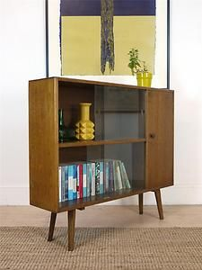 Retro aka Mid-Century Modern (40s, 50s, 60s, 70s) -Sweet 60's Retro Bookcase Sideboard -///// hmmmm, perfect for media storage!!!!! Add my colors…\\\\\\\