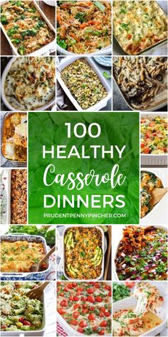 100 Healthy Casserole Recipes - These easy and healthy casseroles are chalked full of veggies and use nutritious ingredients like zoodles, quinoa, cauliflower rice so that you can eat your favorite casserole for dinner guilt-free! Healthy Casserole Recipes, Healthy Dinner Recipes, Healthy Snacks, Healthy Eating, Cooking Recipes, Casseroles Healthy, Healthy Dinners, Breakfast Recipes, Le Diner
