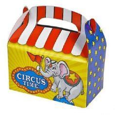 36 Circus Treat Boxes Carnival Birthday Loot Goody Gift Bag #Aa29 Free Shipping