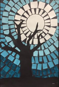ARTventurous: Winter Sky Mosaics More Winter Art Projects, Cool Art Projects, Mosaic Art Projects, Christmas Art Projects, Project Ideas, Classroom Art Projects, Art Classroom, Class Projects, School Projects