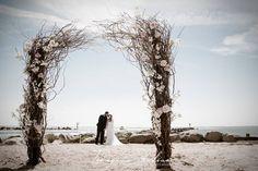 How much do you love this floral arch on the beach? Wedding 2017, Luxury Wedding, Wedding Ceremony, Wedding Venues, Wedding Day, Waterfront Wedding, Floral Arch, Bat Mitzvah, Beach Photos