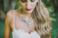 26 Trendy Statement Bridal Accessories You'll Love: Statement Necklaces  #bridalaccessories; #statementnecklaces