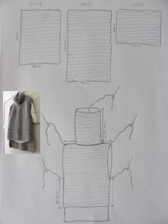 Is KNIT, but could be crochet. 3 pieces same width different lengths Pullunder Gilet Crochet, Crochet Poncho Patterns, Loom Patterns, Diy Crafts Crochet, Knitting Machine Patterns, Crochet Clothes, Free Knitting, Knitting Projects, Sewing