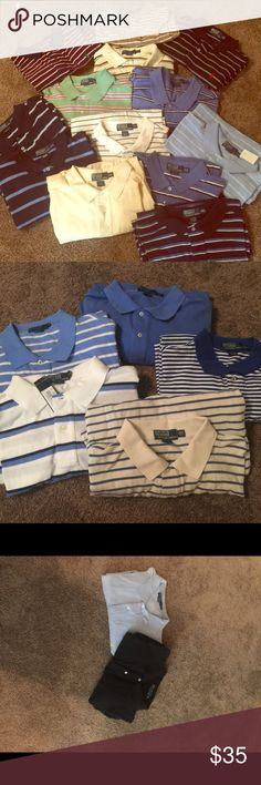 Ralph Lauren Polo shirts. Short sleeve Multiple Ralph Lauren Polo shirts. Sizes range from xlt to 3XL. Some still have tags on them. Won't trade-purchase only. Polo by Ralph Lauren Shirts Polos