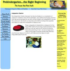 The Adaptation Station (formerly the Device Gallery) is a compilation of classroom materials, instructional strategies, and assistive technology devices that are recommended for use with young children with disabilities to access the curriculum.  -  Pinned by @PediaStaff – Please Visit http://ht.ly/63sNt for all our pediatric therapy pins
