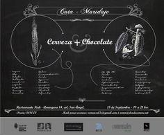 Cerveza + chocolate - 18 septiembre 2013 - de 19 a 21 hrs en Restaurante Kuh (Amargura 14, Col. San Ángel). Reservaciones en: comensal3s@gmail.com ó mmm@dondecomere.net
