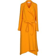 Ports 1961 Overcoat (13.625.655 IDR) ❤ liked on Polyvore featuring outerwear, coats, orange, ports 1961 coats, collar coat, long sleeve coat, lapel coat and orange coat