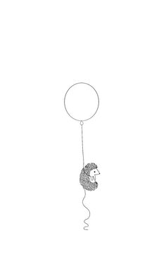 'Hedgehog and Balloon' iPhone Case by SydneyKoffler Hedgehog Tattoo, Hedgehog Drawing, Hedgehog Art, Cute Hedgehog, Cute Wallpaper For Phone, Animal Wallpaper, Iphone Wallpaper Vector, Kiss Eyelashes, Cute Doodles