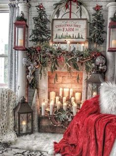 Here are the Christmas Fireplace Decor Ideas. This post about Christmas Fireplace Decor Ideas was. Christmas Room, Christmas Mantels, Noel Christmas, Outdoor Christmas, Vintage Christmas, Christmas Staircase, Christmas Ideas, Christmas Movies, French Country Christmas