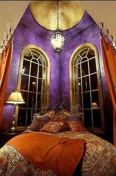 majestic purple bedroom