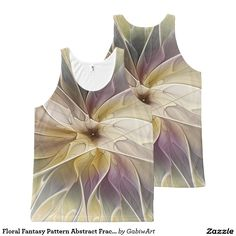 Floral Fantasy Pattern Abstract Fractal Art All-Over Print Tank Top