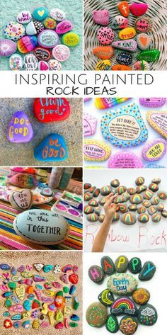 10 Inspiring Painted and Word Rocks Ideas for Spreading Kindness. Rock hunting is a simple random act of kindness for both kids and adults to do together. - Crafts Are Fun Stone Crafts, Rock Crafts, Diy And Crafts, Crafts For Kids, Arts And Crafts, Recycled Crafts, Pebble Painting, Pebble Art, Stone Painting