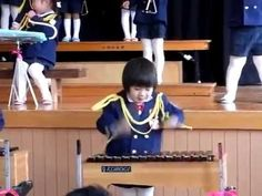 Little Japanese Kid Playing Xylophone With Intensity - So Cute!!!! - YouTube